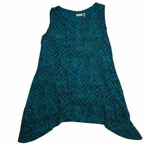 LOGO Lori Goldstein Tunic Blouse Asymmetrical hem